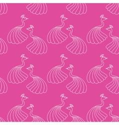 Seamless pattern of beautiful magic peacocks vector