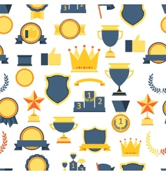 Seamless pattern with trophy and awards vector