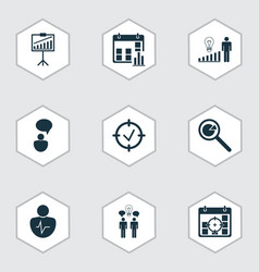 Set of 9 administration icons includes vector