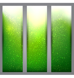 Set of blurry green vibrant banners vector image
