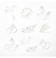 Set paper icons vector
