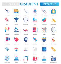 set trendy flat gradient medical vector image