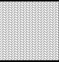 simple pattern with leaves black and white vector image