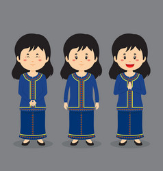 Singapore character with various expression vector