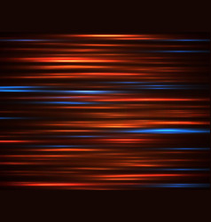 speed car light movement lines on dark background vector image