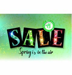 spring sale label vector image