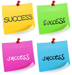 Success Sticky Note vector image