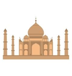 Taj-mahal temple flat vector