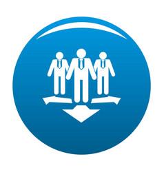 teamwork icon blue vector image