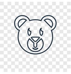 teddy bear concept linear icon isolated on vector image