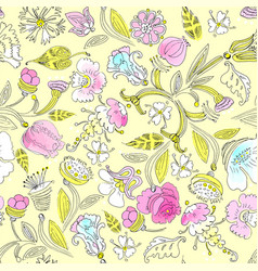 Traditional floral ornament vector