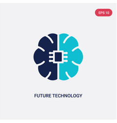 two color future technology icon from general-1 vector image