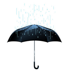 umbrella in rain isolated vector image