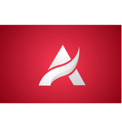 White a alphabet letter logo icon design for vector