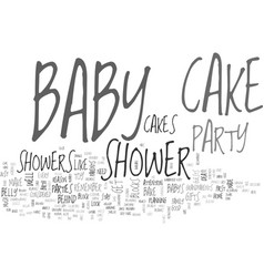 baby shower cakes guaranteed to tickle your fancy vector image