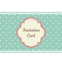 cute teal polka dot with lace elegant background vector image vector image