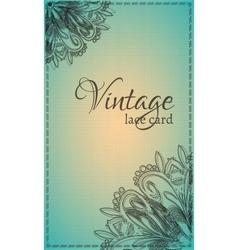 Vintage lace card vector image