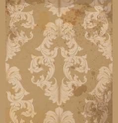 baroque pattern grunge background vintage vector image