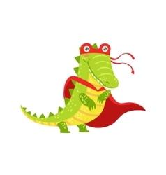 Crocodile Animal Dressed As Superhero With A Cape vector image