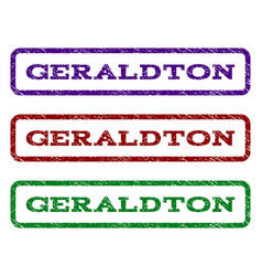 geraldton watermark stamp vector image