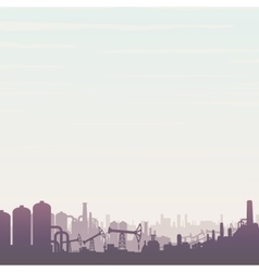 Oil and Gas Industry Panoramic Landscape vector image vector image