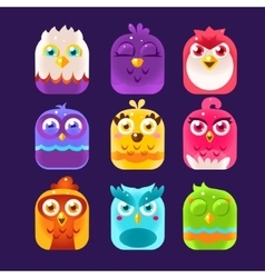 Owl Icons Set vector image vector image