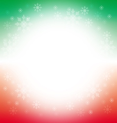 Christmas and winter background - green and red vector