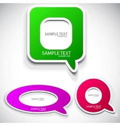 colorful speech bubble vector image vector image
