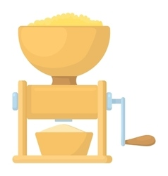 Meat grinder icon cartoon style vector