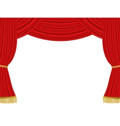 Theater curtains background vector image