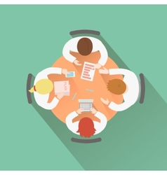Business teamwork concept top view group people vector image