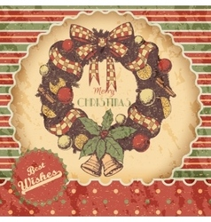 Christmas or New year hand drawn colored vector image