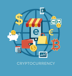 digital bitcoin electronic cryptocurrency vector image