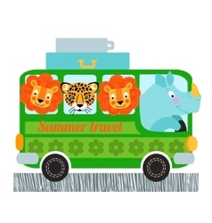Green bus design vector image vector image