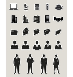 Office and business web icons set vector image vector image