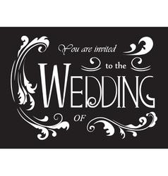 Wedding invitation wording vector image