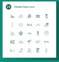 25 relax icons vector