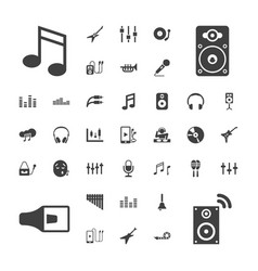 37 sound icons vector