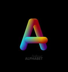3d iridescent gradient letter a vector
