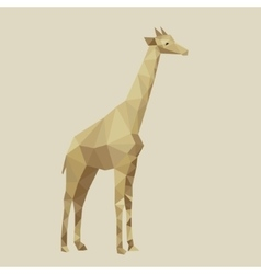 Abstract stylized giraffe vector image
