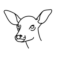 animal fawn icon design clip art line icon vector image