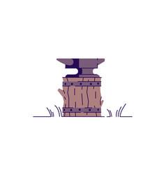 Anvil semi flat rgb color vector