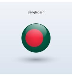 Bangladesh round flag vector
