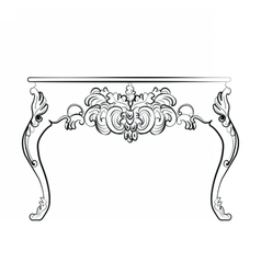 Baroque style table with ornaments vector image