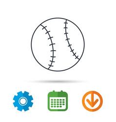 Baseball icon sport ball sign vector
