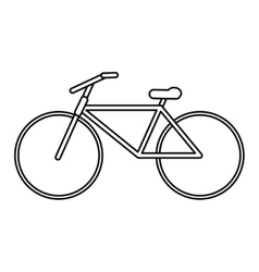 Bicycle transport active sport outline vector
