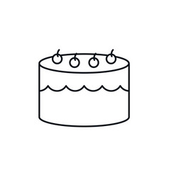 Birthday cake celebration party line design icon vector