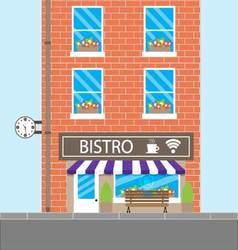 Bistro building cafeteria vector image