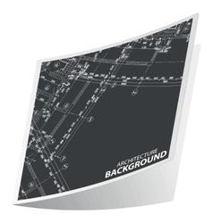 Black architecture sticker 1 vector image