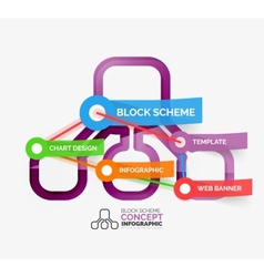 Block scheme infographic tag cloud vector